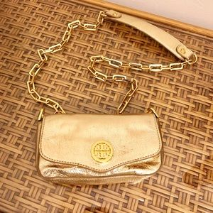 Tory Burch Mini Gold Metallic Crossbody